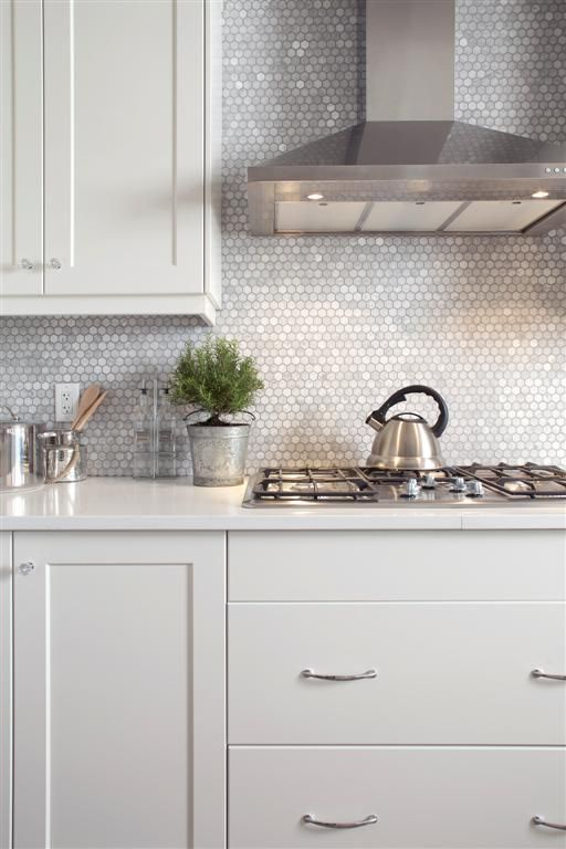 penny tile backsplash will reflect the light