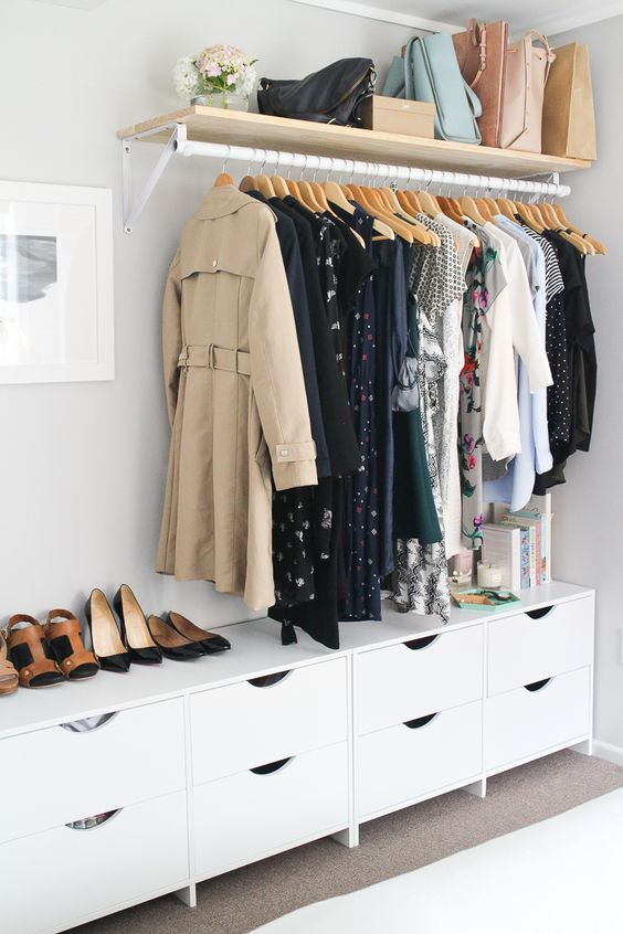 simple drawer unit for a small closet