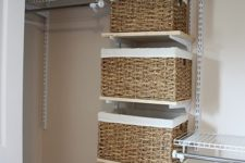 24 baskets instead of drawers are a nice and comfy idea