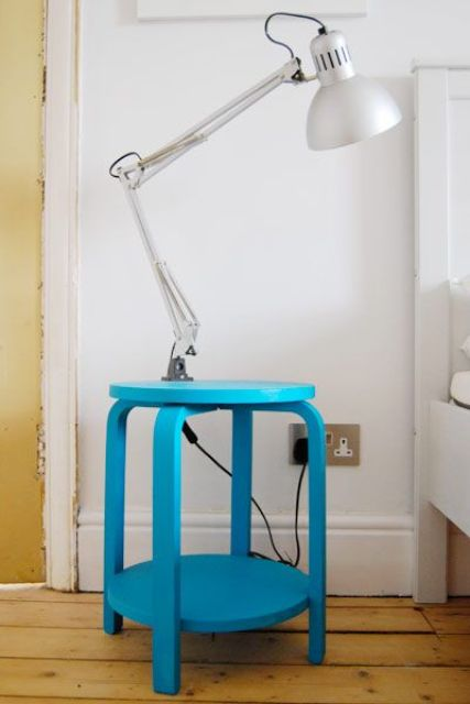 IKEA Frosta bedside table in blue