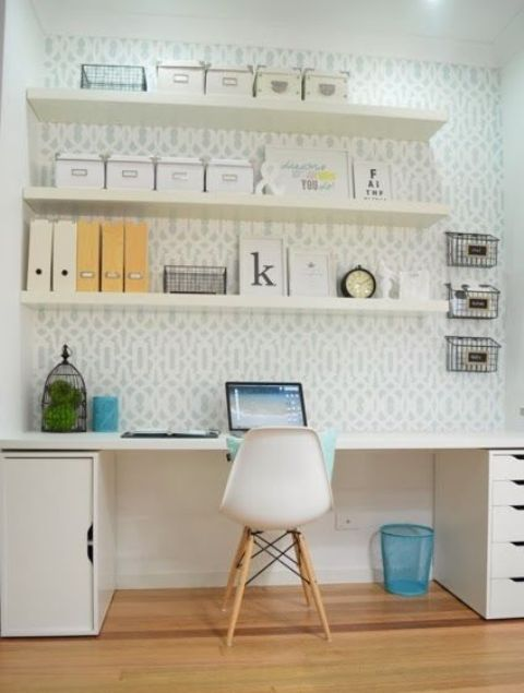 Lack Floating Shelves For Home Office Storage