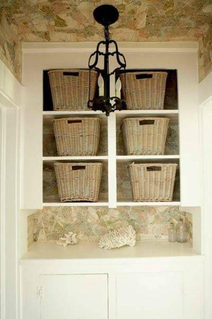 linen closet baskets to keep it pretty