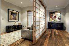 26 Shoji screens and Japanese wall art give the serene interiors an oriental touch