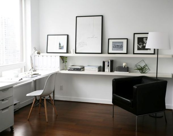 37 ikea lack shelves ideas and hacks digsdigs for Ikea office ideas
