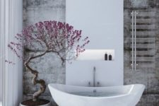 26 mini potted tree for a Japanese-inspired bathroom