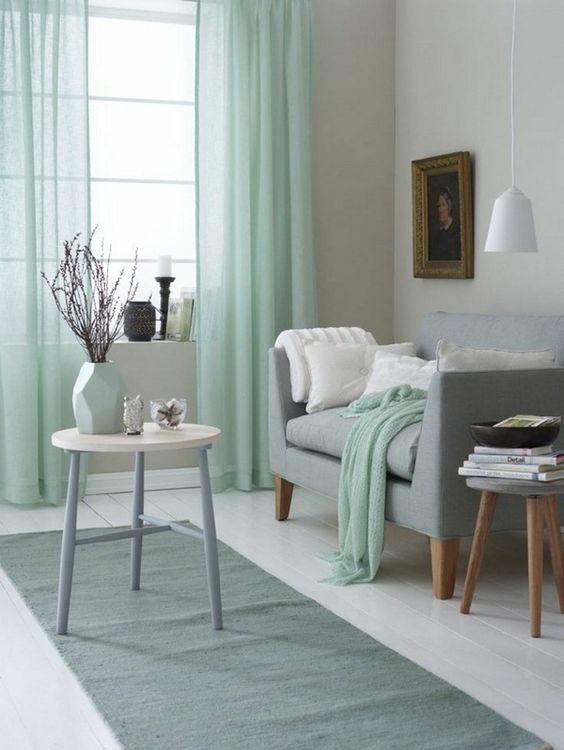 30 green and grey living room d cor ideas digsdigs - Kleur zen woonkamer ...