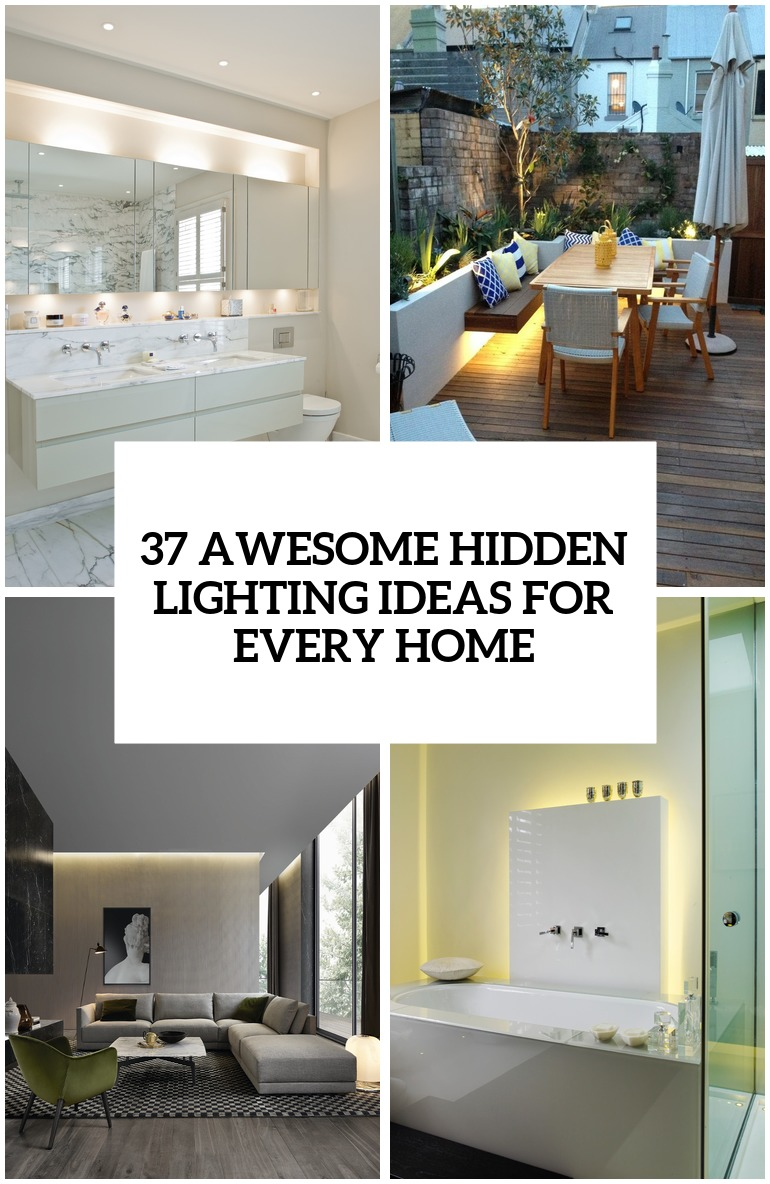 27 Awesome Hidden Lighting Ideas For Every Home - DigsDigs