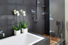 27 white orchids will easily add a Japanese flavor to your bathroom