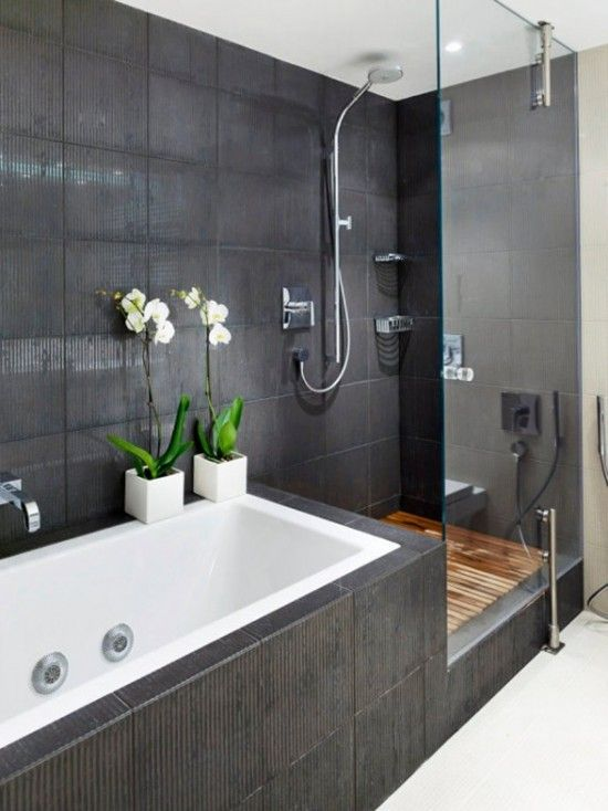 White Orchids Will Easily Add A Japanese Flavor To Your Bathroom