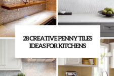 28 creative penny tiles ideas for kitchens cover