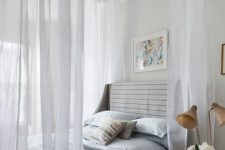 28 dreamy canopy over the bed looks very romantic