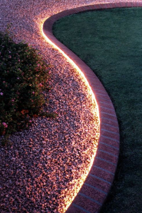 line up your gravel paths with lights and youll get an attractive feature in - Garden Ideas Lighting