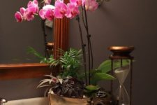 28 these orchids bring a wow factor to your Japanese bathroom