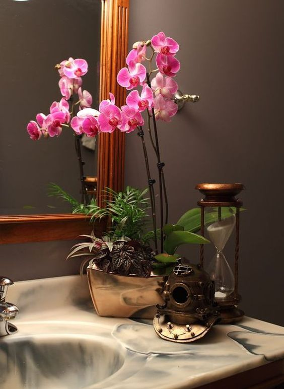 Gentil These Orchids Bring A Wow Factor To Your Japanese Bathroom