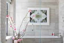 29 a couple of artificial orchid branches and a photo on the wall will add a refined touch