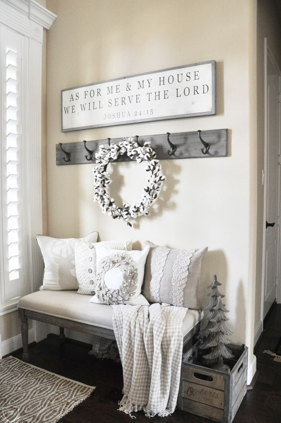 cotton wreath will set up a cozy mood