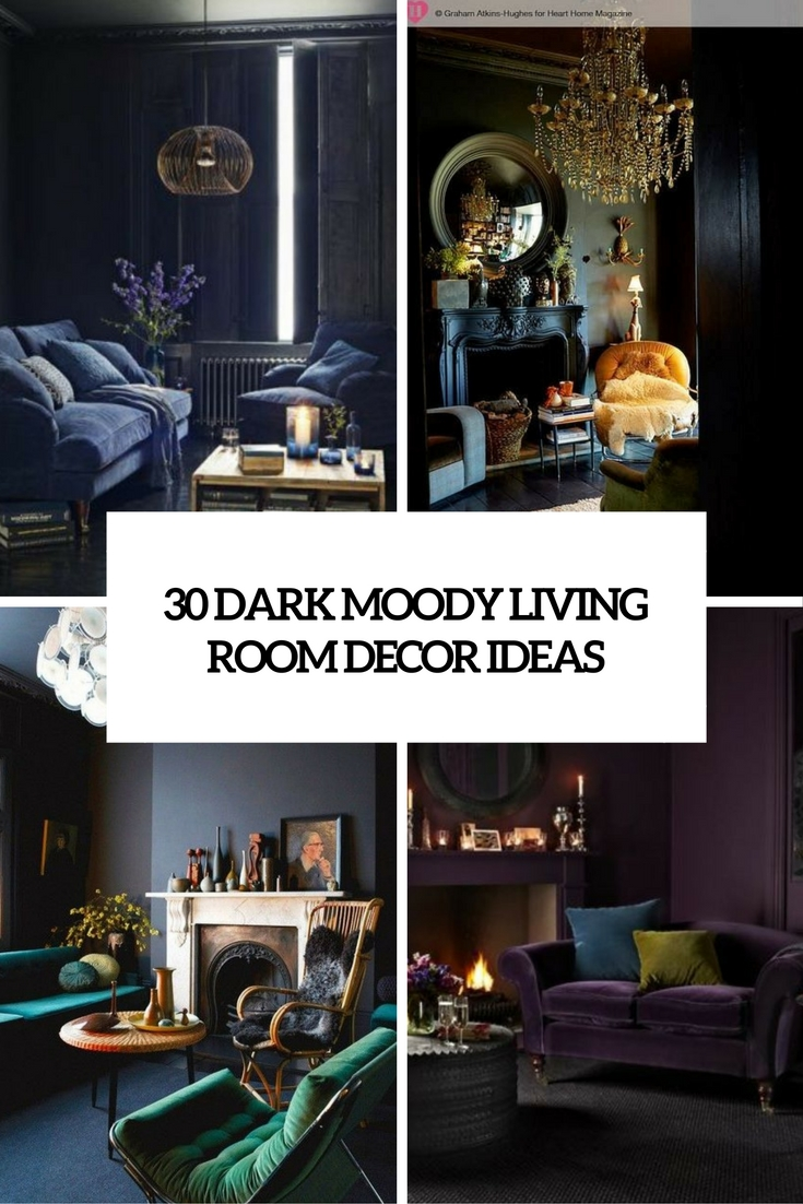 30 dark moody living room d cor ideas digsdigs for Decoration ideas