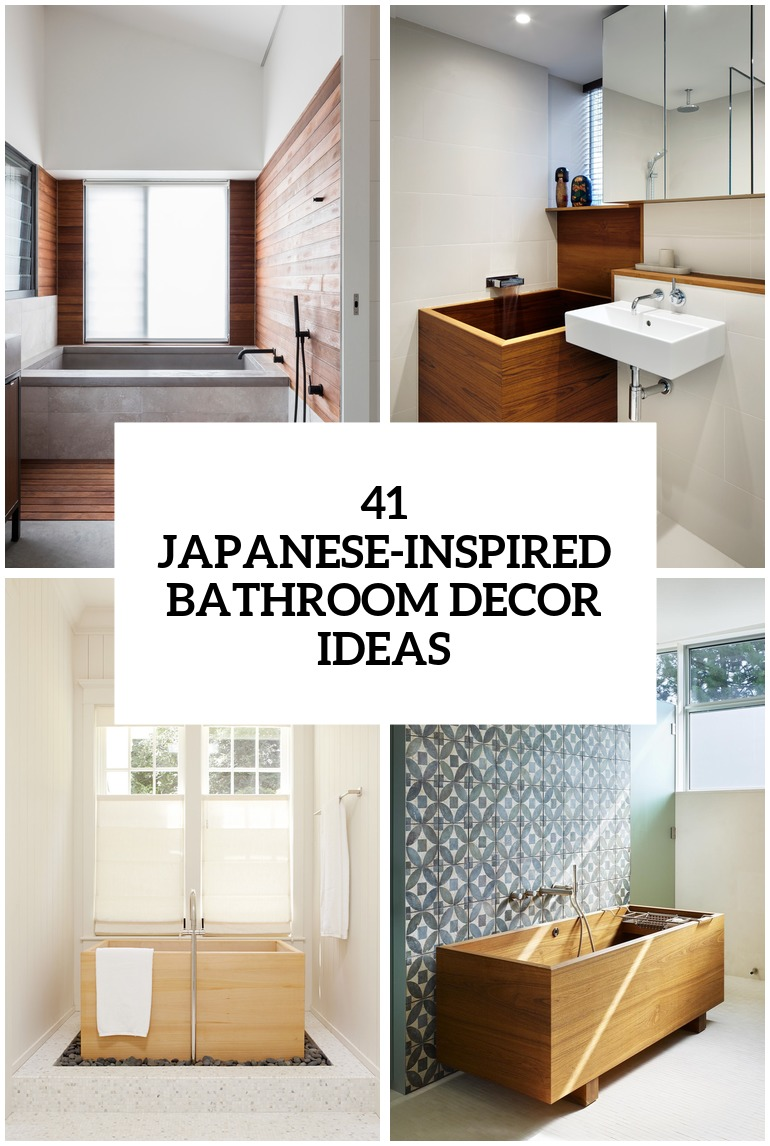 30 Peaceful Japanese Inspired Bathroom Dcor Ideas DigsDigs
