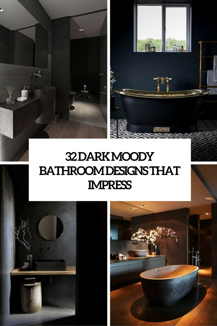 dark moody bathroom designs that impress cover
