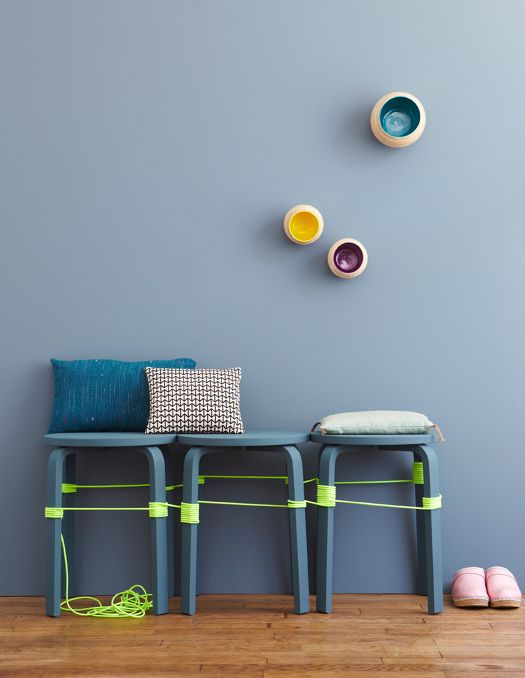 Frosta stools bench for the entryway
