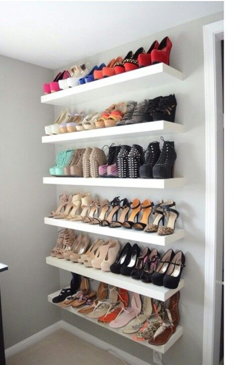 put your colorful shoe collection on display with IKEA Lack