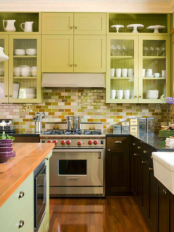 Kitchen Backsplash Yellow 35 ways to use subway tiles in the kitchen - digsdigs