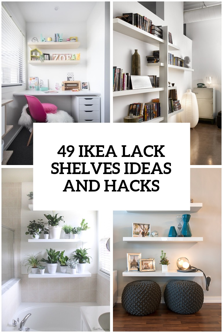 Folding Table Wall Mounted Ikea ~ 37 IKEA Lack Shelves Ideas And Hacks  DigsDigs