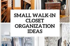 4 small walk-in organization tips and 28 ideas cover
