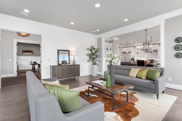 37 Green And Grey Living Room Décor Ideas - DigsDigs