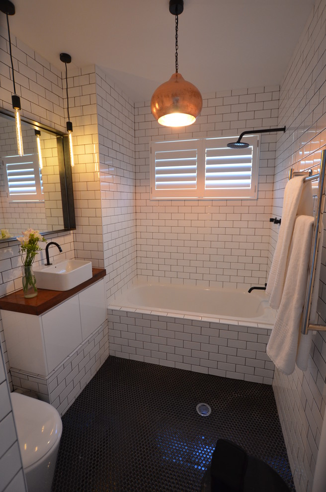 45 Trendy Penny Tiles Ideas For Bathrooms - DigsDigs