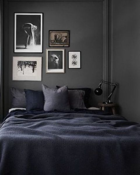 Modern Bedroom Black Gothic Bedroom Sets Room Colour Ideas Bedroom Bedroom Furniture For Men: 26 Sexy Moody Bedroom Designs That Catch An Eye