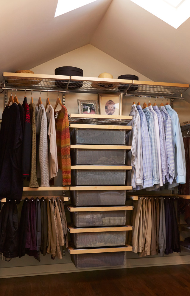 hanging clothes storage and open shelves are probably only things you need in a fully functional closet (DLH Inc)