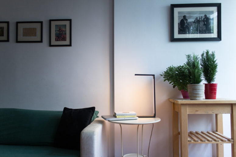 Liminal lamp is a nice example of minimal design inspired by a single line, and it is a line itself