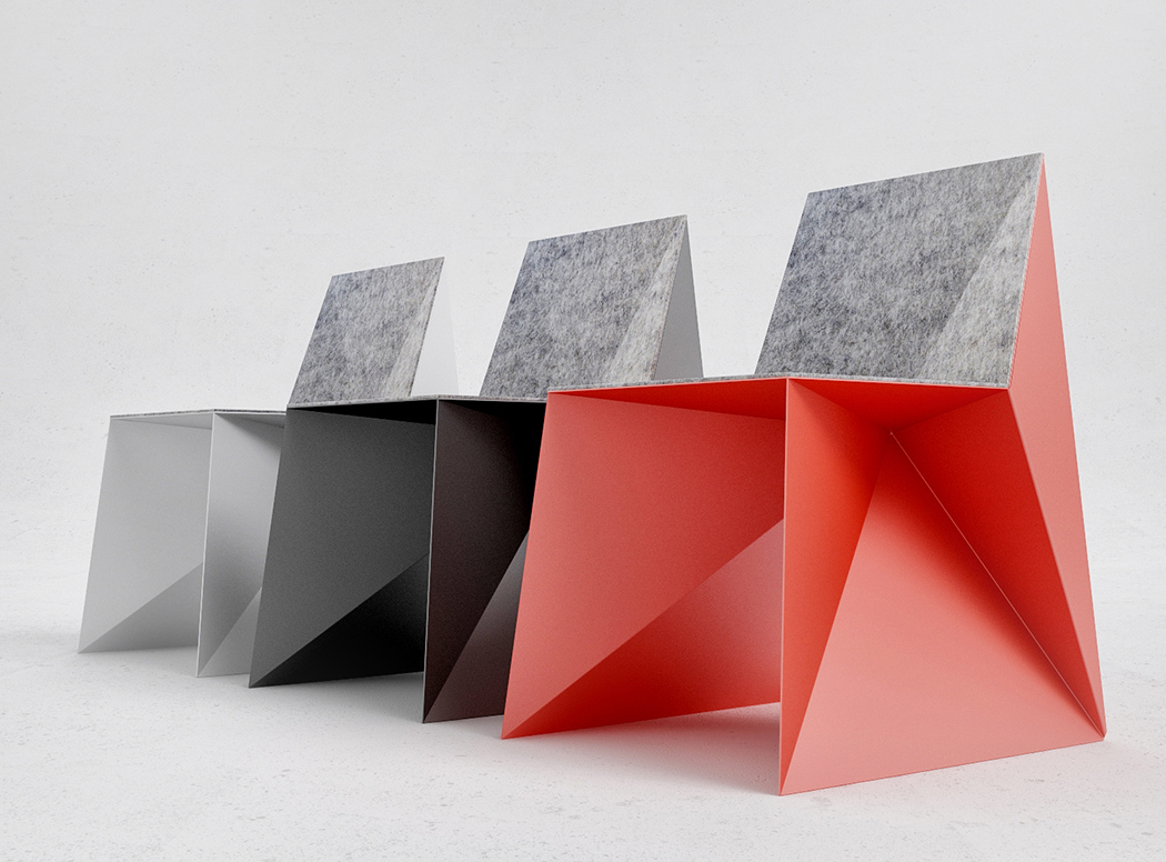 Q5 is a modern and bold geometric chair that looks even agressive