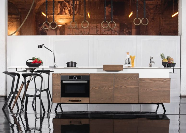 Modern And Adaptable KITCH\'T Corian Kitchen - DigsDigs