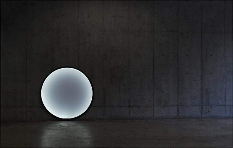 This lamp by designer Kazuhiro Yamanaka was inspired by the moon and got a very modern look
