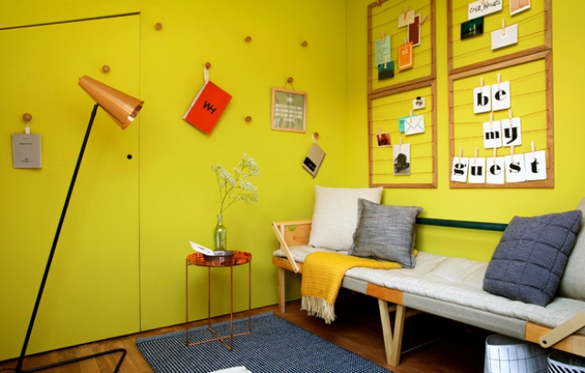 All the furniture is functional and can double as other items, for example, wooden hangers that double as decorations