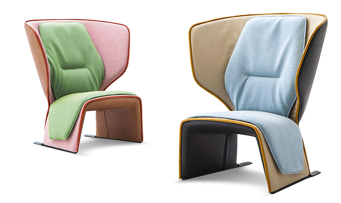 The chair is available in different combos of materials and fabrics, there are various color schemes to choose from, so it will easily fit your space