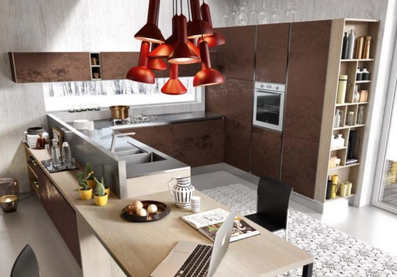 Modern And Bold Bijou Кухня из высококачественных материалов