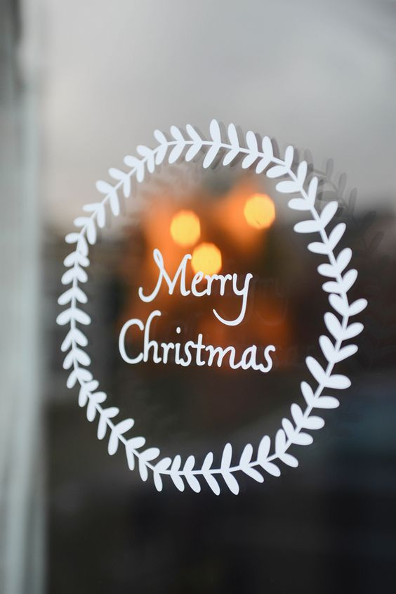 Christmas white decals or just a sharpie will make decorating fast and easy