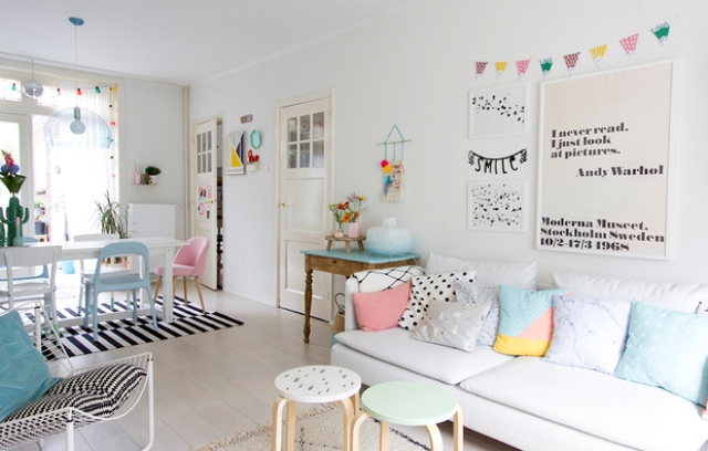 Scandinavian living room design with pastel touches digsdigs for The make room