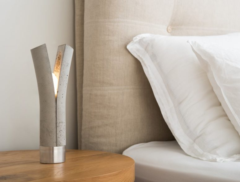 Such a unique lamp will be an amazing nightstand in any modern bedroom