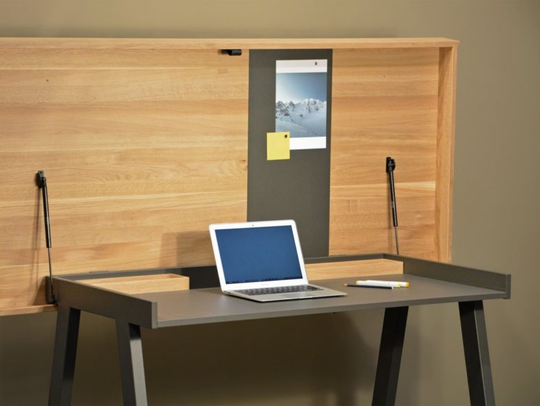 With this functional table you don't need a dedicated room for your home office, you can use the table whenever you want it