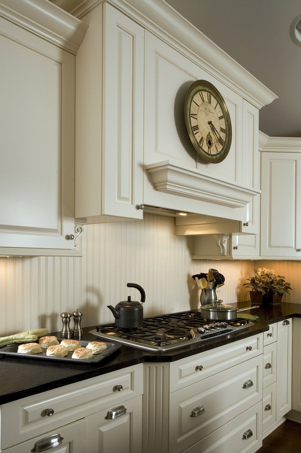 traditional ivory kitchen backsplash will give your kitchen a cottage look