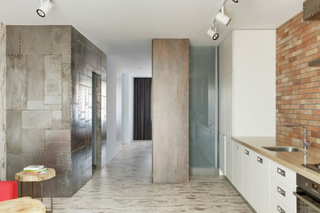 The extensive use of metal shows that it's a bachelor's space