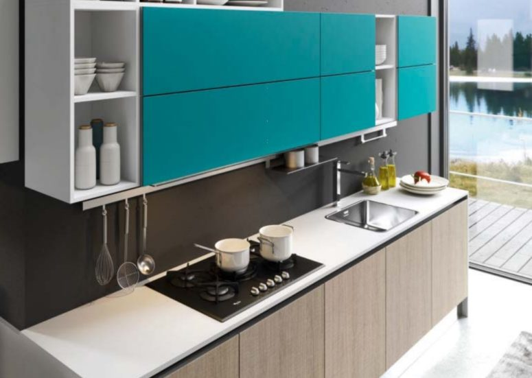 You can easily create a personalized kitchen in the colors and finishes you like and customize it as you want