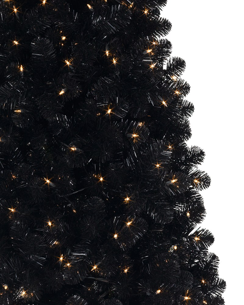 decorate your tree with only lights to make it look sophisticated and luxurious