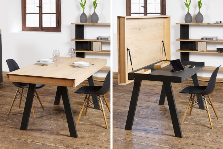 Convertible celerina table for dining and working digsdigs - Table convertible ikea ...