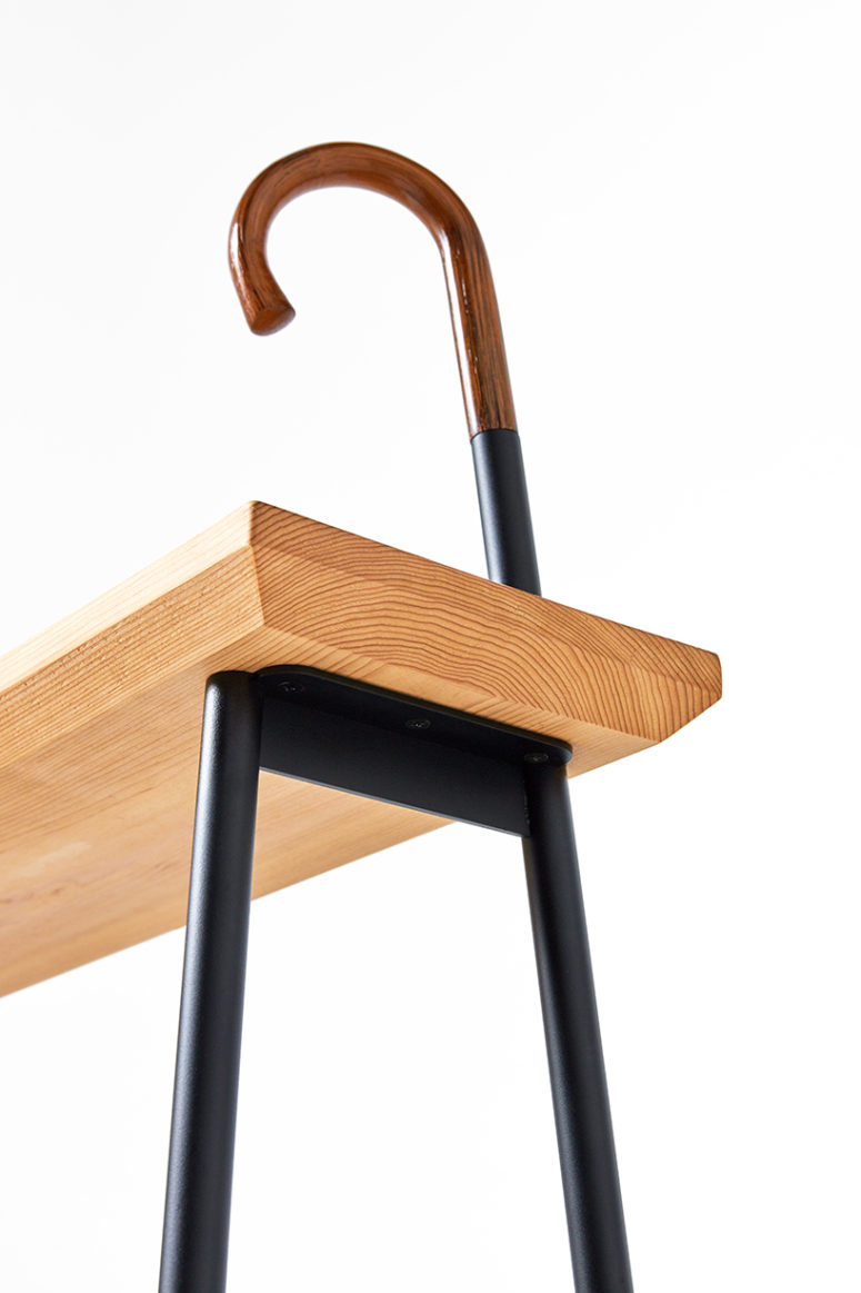 Elegant and simple, the dozo bench is crafted from just two primary materials