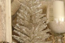 05 small silver tinsel tree in a bowl for vintage decor